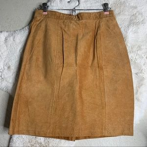 Vintage The Limited Suede Leather Skirt 10